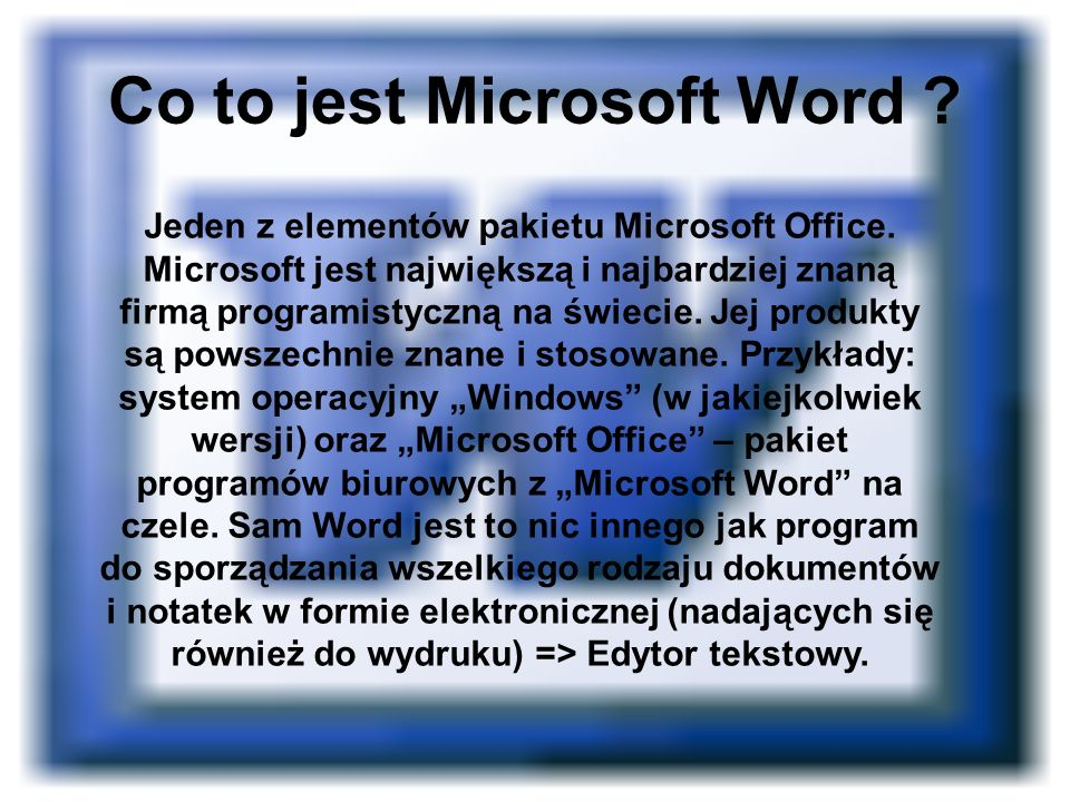 Co to jest Microsoft Word