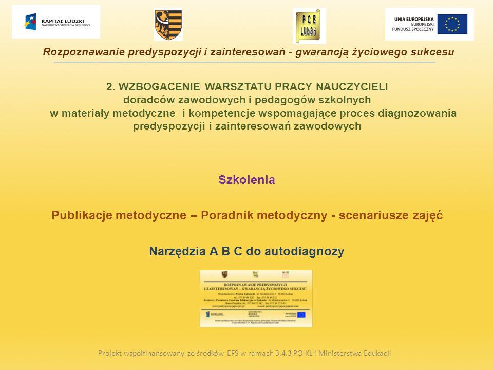 Publikacje metodyczne – Poradnik metodyczny - scenariusze zajęć