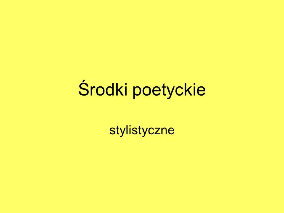Środki poetyckie stylistyczne