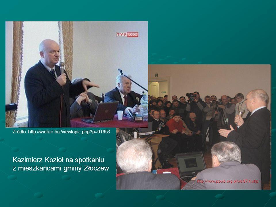 Kazimierz Kozioł na spotkaniu z mieszkańcami gminy Złoczew