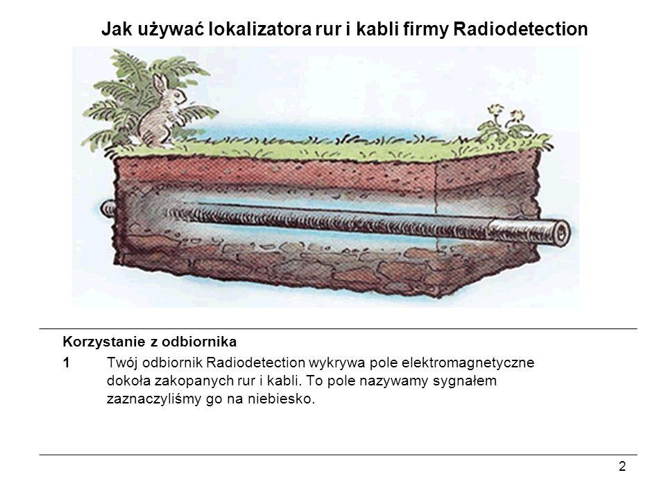 Jak używać lokalizatora rur i kabli firmy Radiodetection