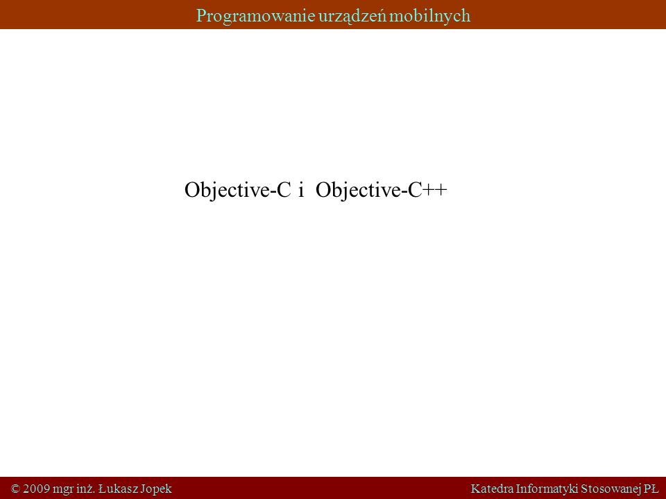 Objective-C i Objective-C++