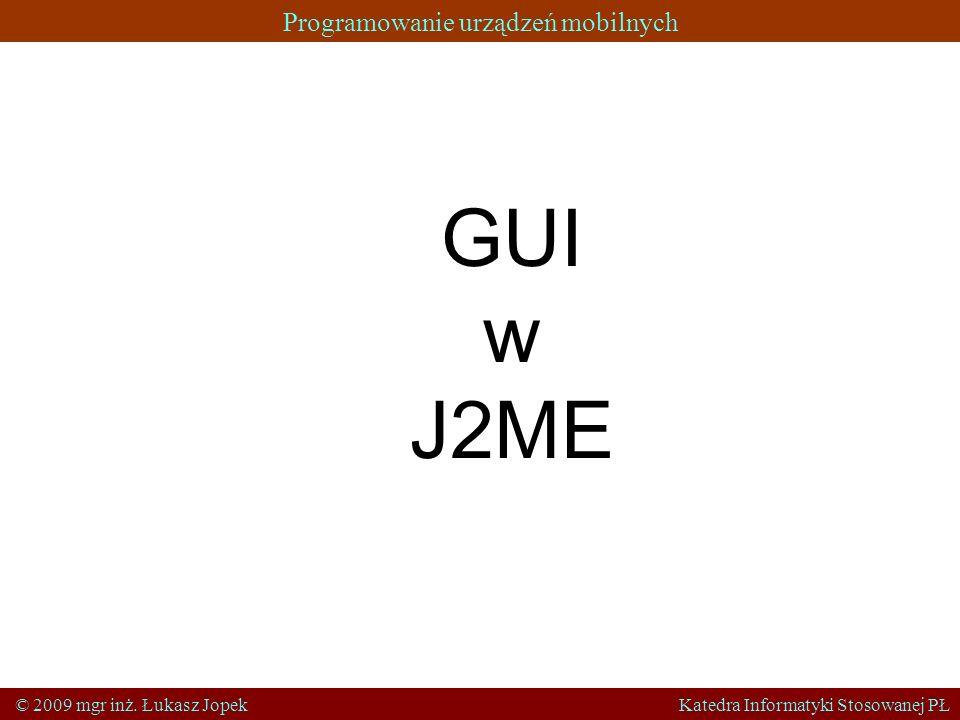 GUIw. J2ME.