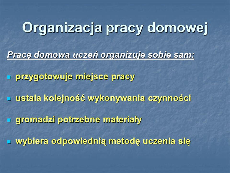 Organizacja pracy domowej
