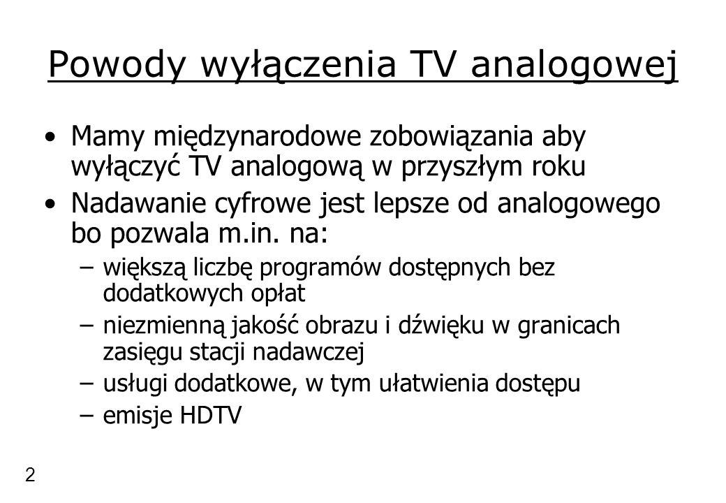 Powody wyłączenia TV analogowej