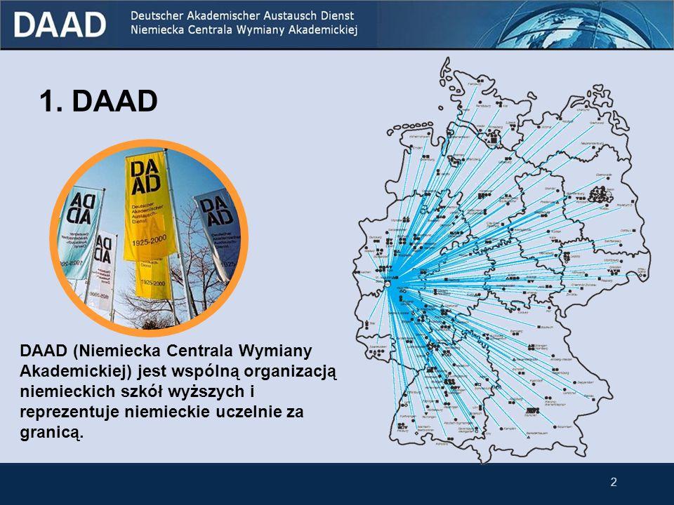 1. DAAD DAAD (Niemiecka Centrala Wymiany