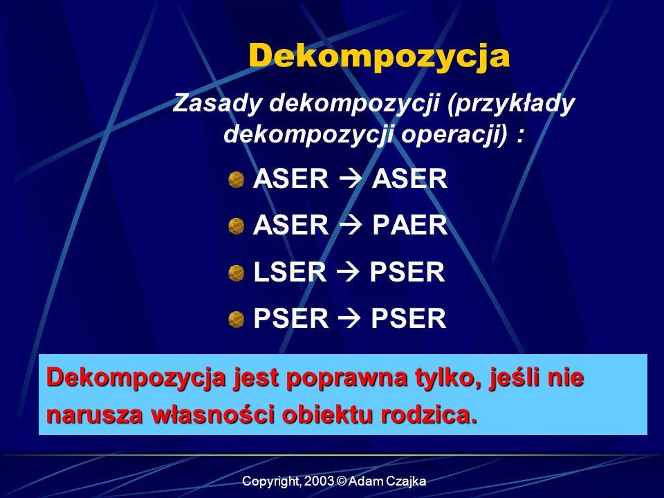 Zasady dekompozycji (przykłady dekompozycji operacji) :