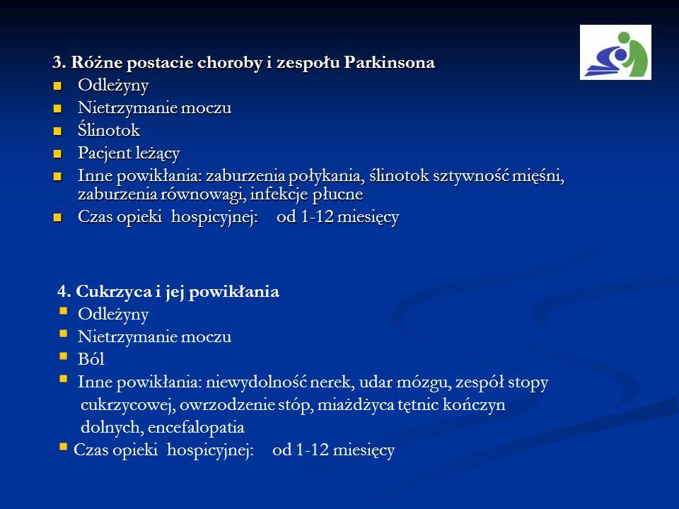 3. Różne postacie choroby i zespołu Parkinsona