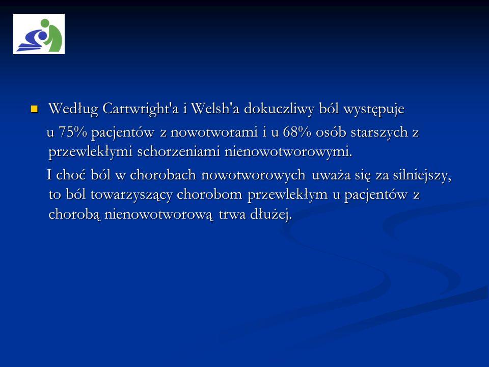 Według Cartwright a i Welsh a dokuczliwy ból występuje