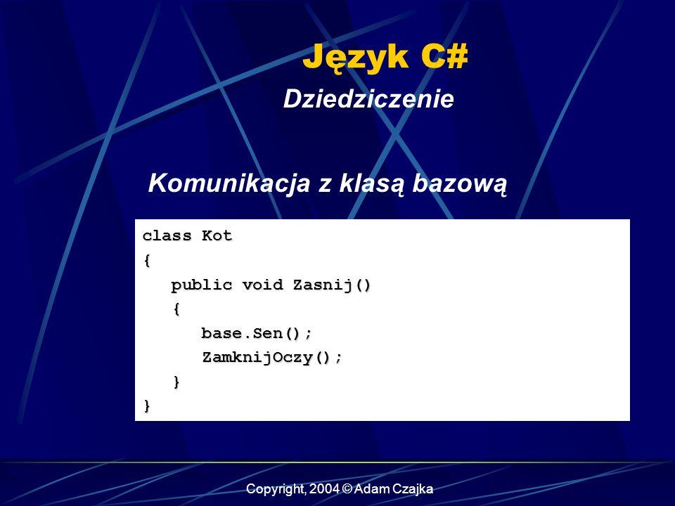 Copyright, 2004 © Adam Czajka