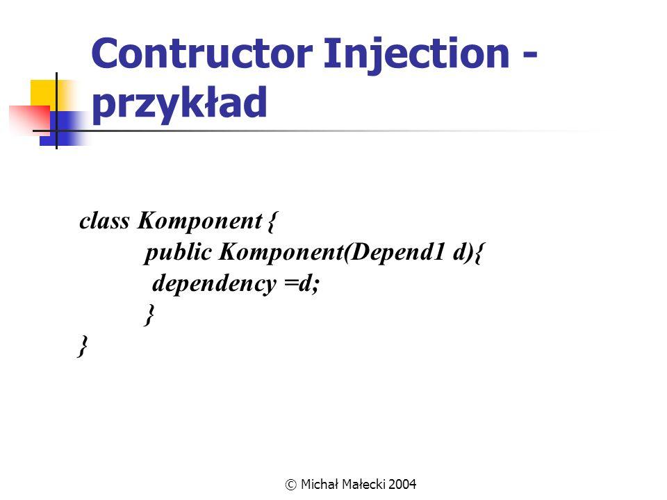 Contructor Injection - przykład