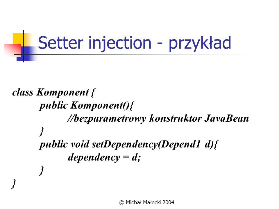 Setter injection - przykład