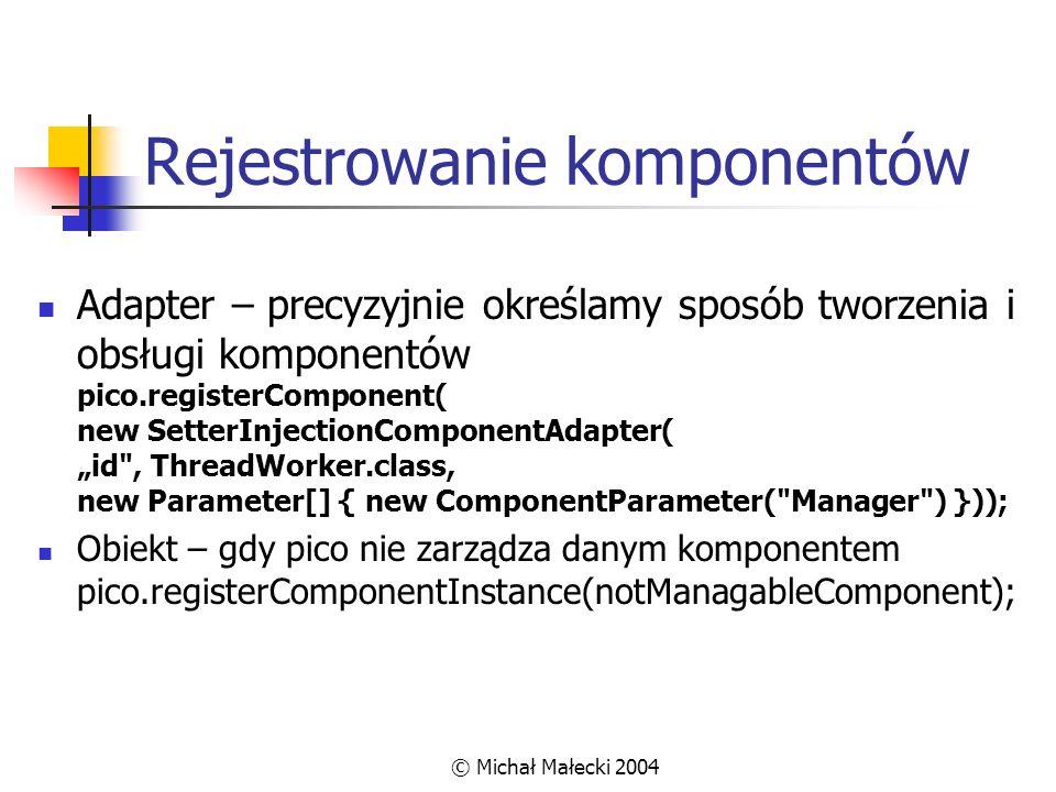 Rejestrowanie komponentów