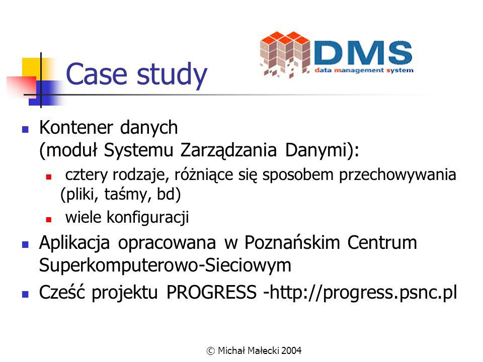 Case study Kontener danych (moduł Systemu Zarządzania Danymi):