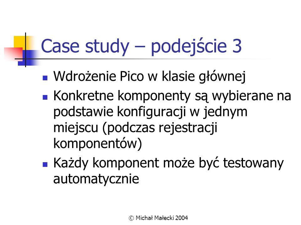 Case study – podejście 3 Wdrożenie Pico w klasie głównej