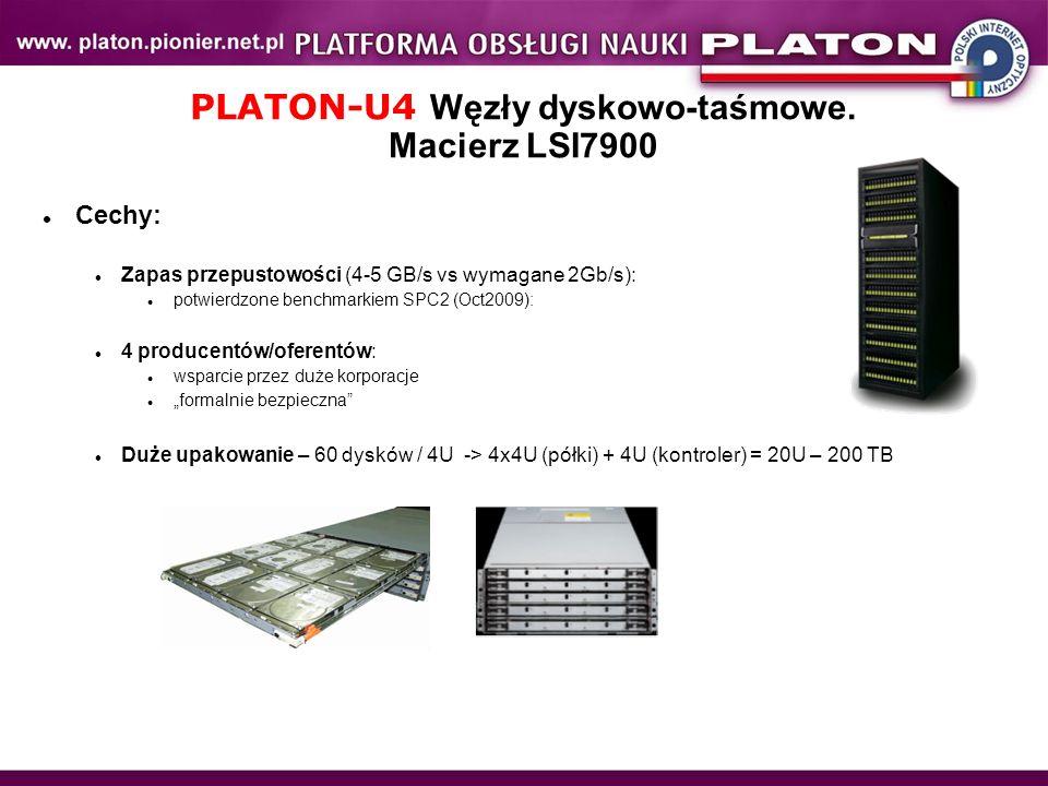 PLATON-U4 Węzły dyskowo-taśmowe. Macierz LSI7900