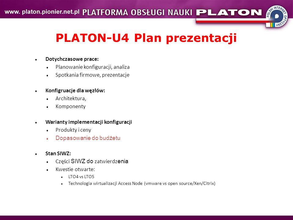 PLATON-U4 Plan prezentacji