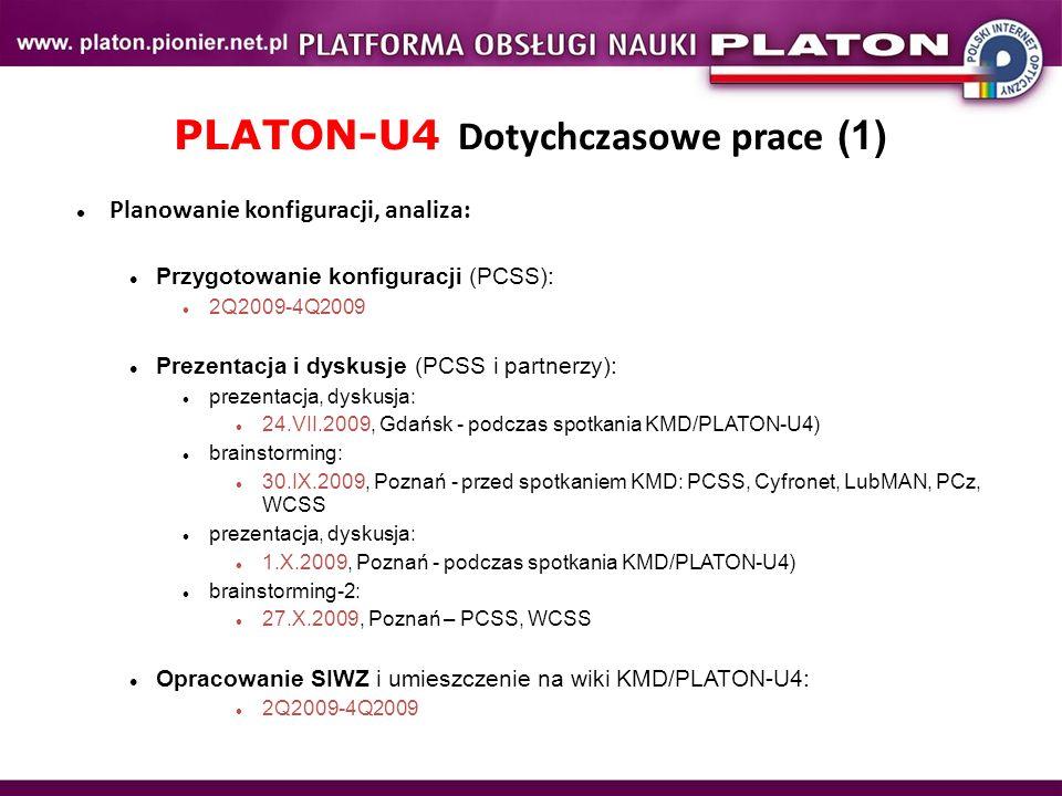 PLATON-U4 Dotychczasowe prace (1)