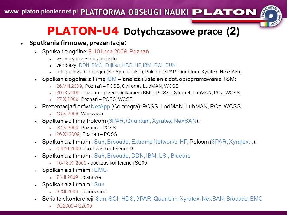PLATON-U4 Dotychczasowe prace (2)