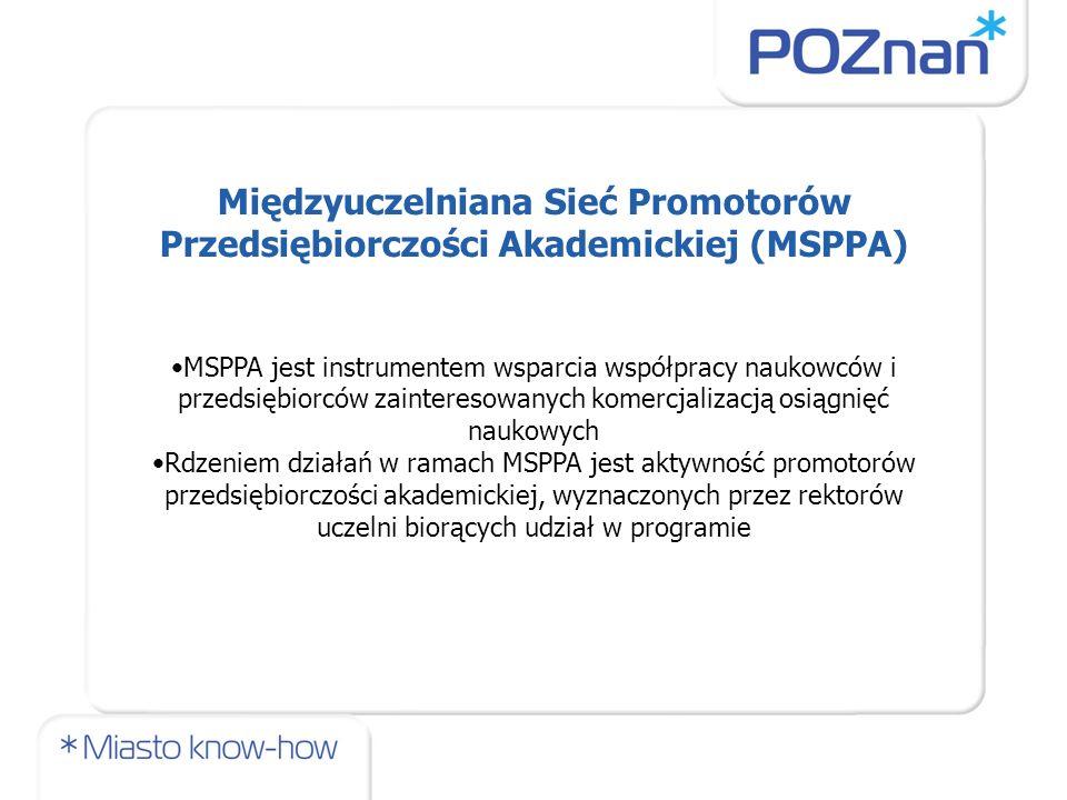 Międzyuczelniana Sieć Promotorów Przedsiębiorczości Akademickiej (MSPPA)