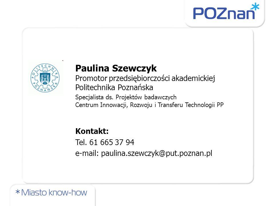 Paulina Szewczyk Politechnika Poznańska