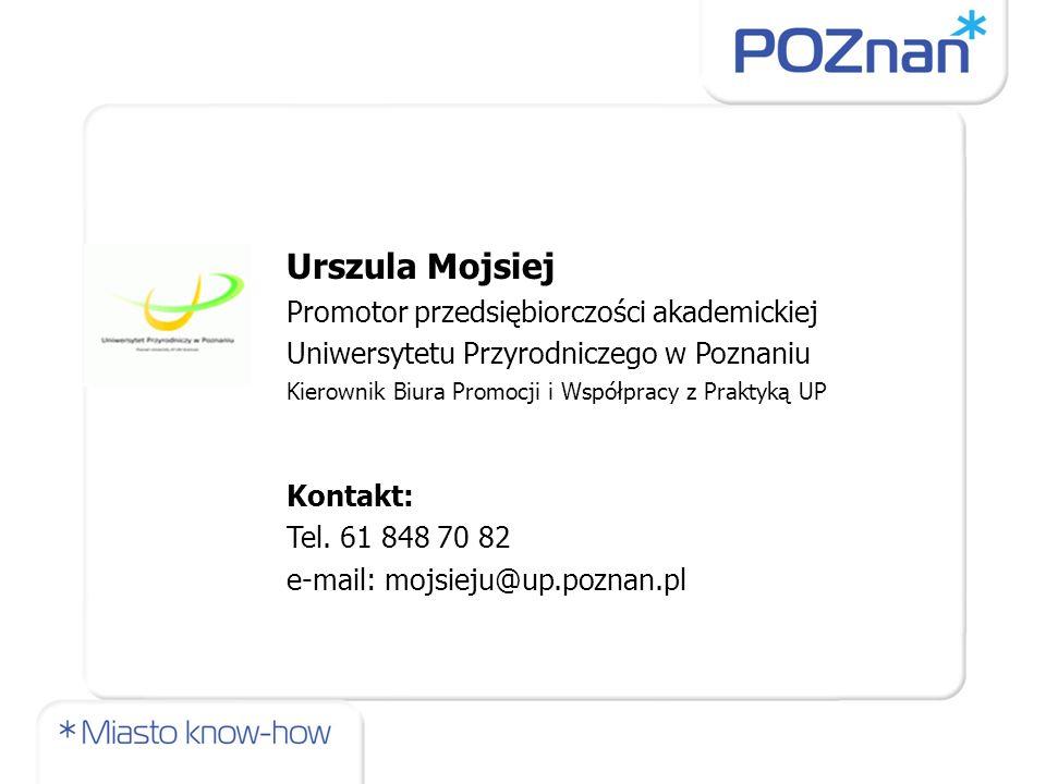 Urszula Mojsiej Promotor przedsiębiorczości akademickiej