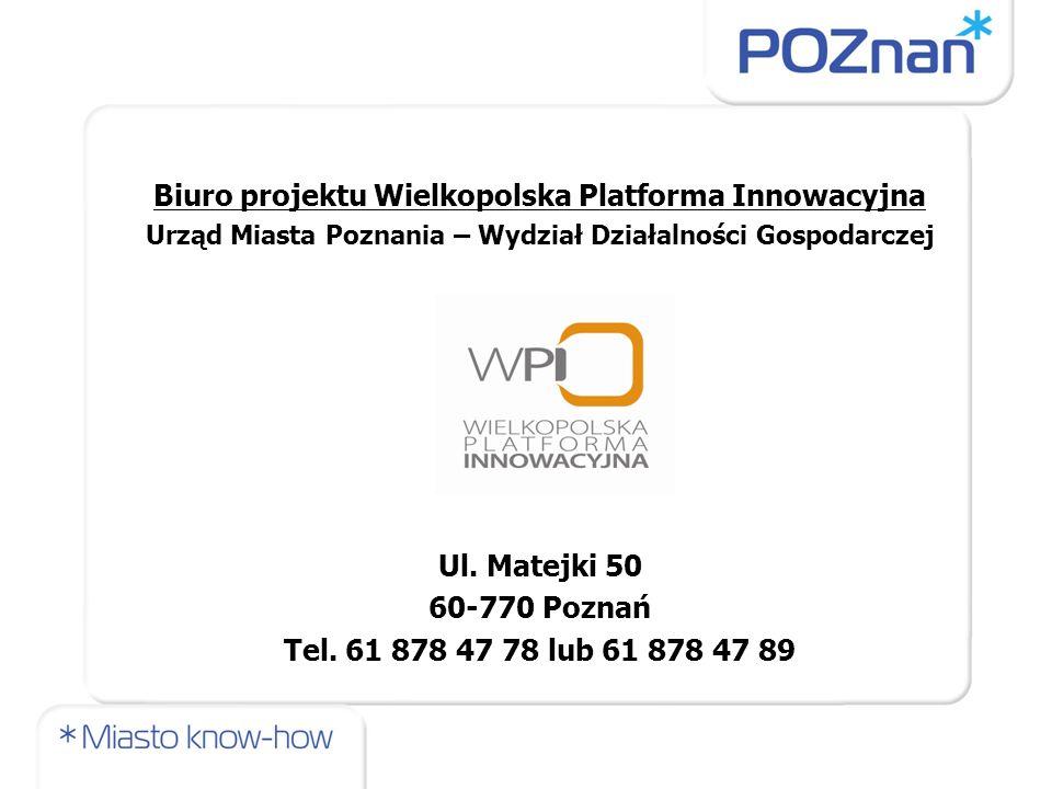 Biuro projektu Wielkopolska Platforma Innowacyjna