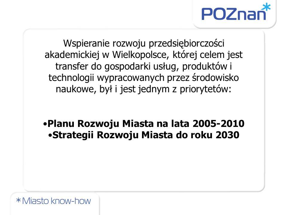 Planu Rozwoju Miasta na lata 2005-2010