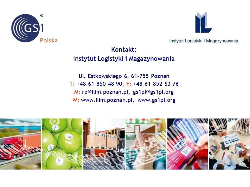 Kontakt: Instytut Logistyki i Magazynowania