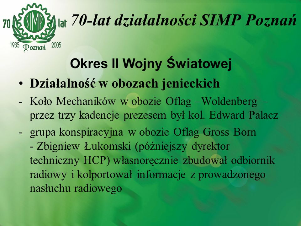 70-lat działalności SIMP Poznań