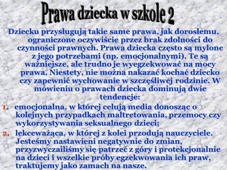 Prawa dziecka w szkole 2