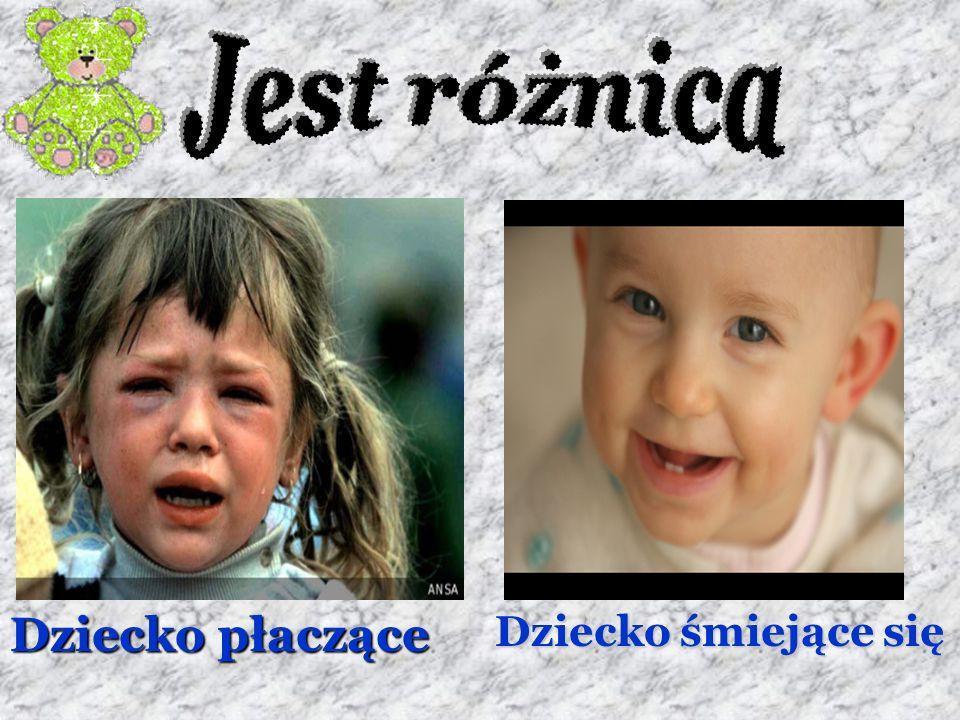 Jest różnica Dziecko płaczące Dziecko śmiejące się