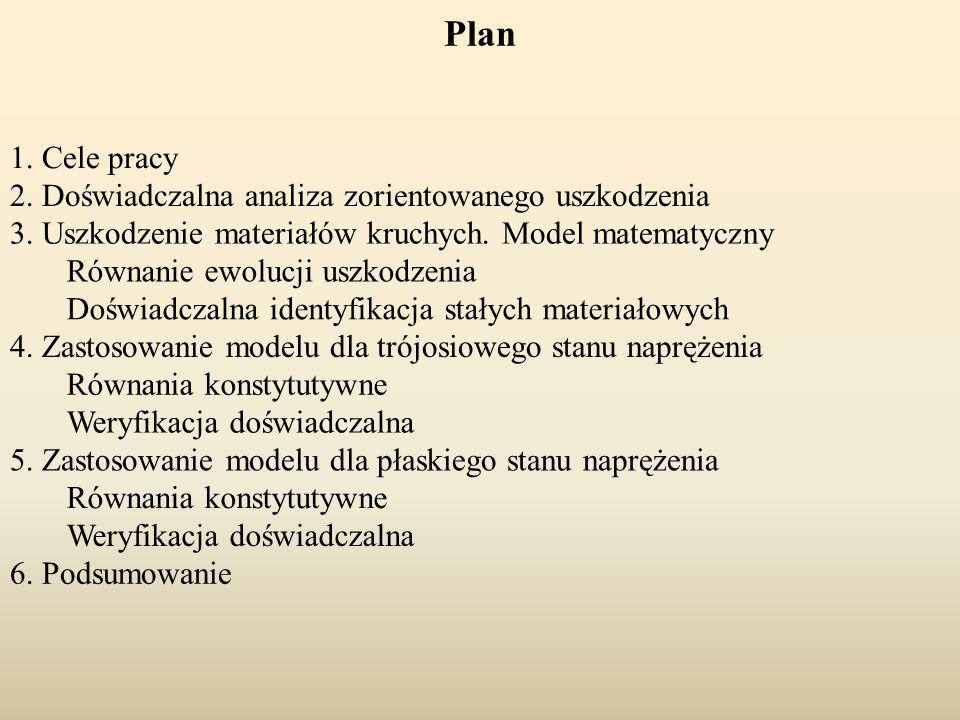 Plan 1. Cele pracy 2. Doświadczalna analiza zorientowanego uszkodzenia