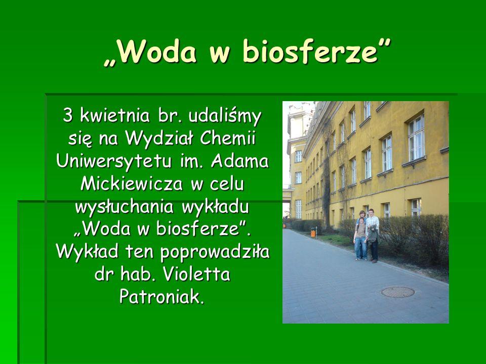 """""""Woda w biosferze"""