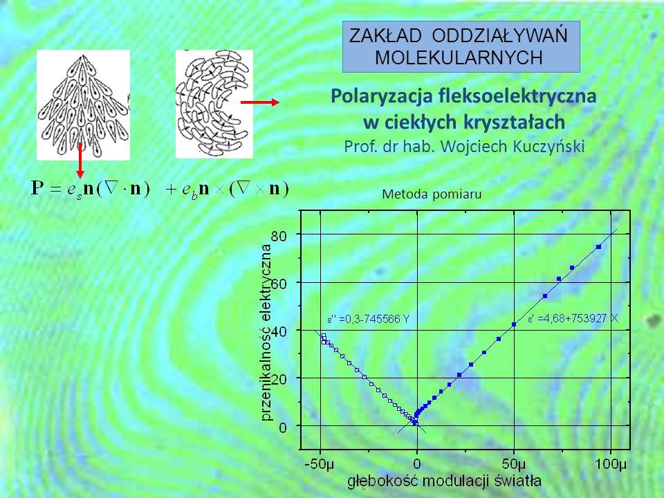 Polaryzacja fleksoelektryczna w ciekłych kryształach