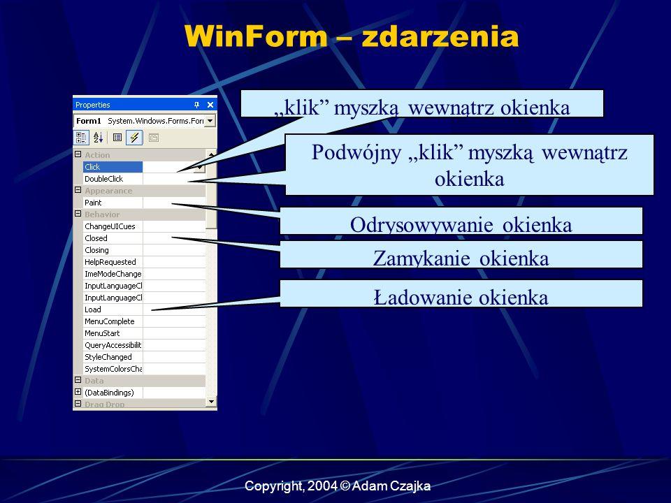 """WinForm – zdarzenia """"klik myszką wewnątrz okienka"""