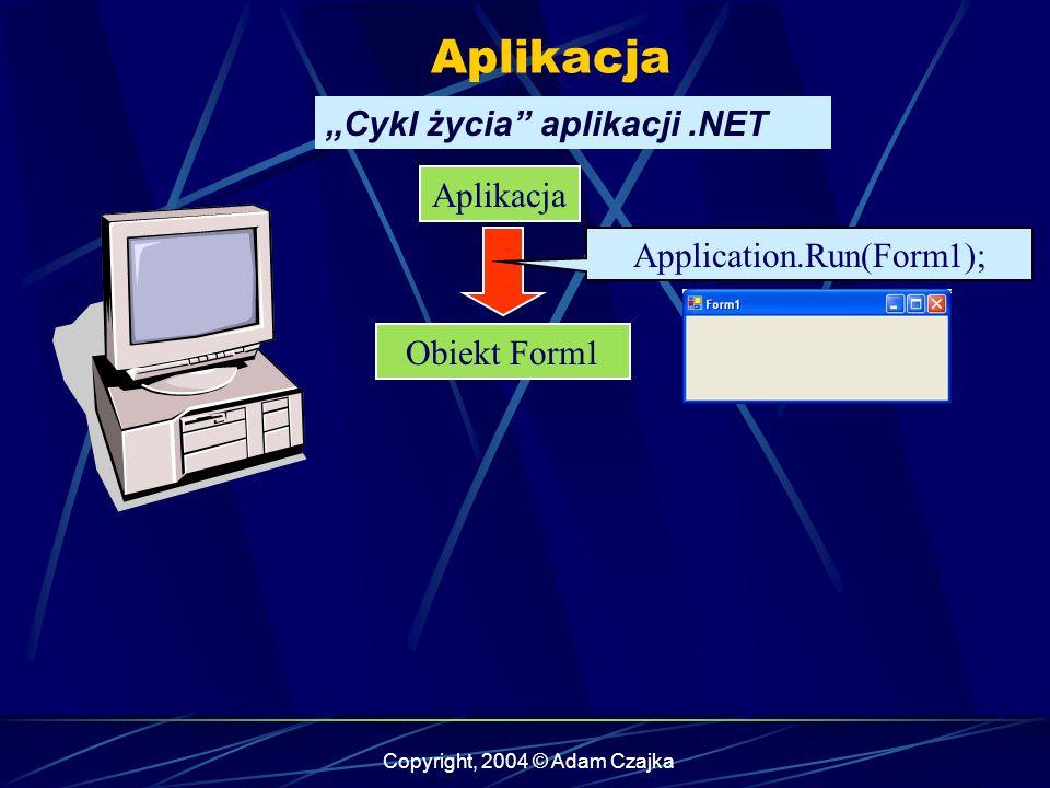 """Aplikacja """"Cykl życia aplikacji .NET Aplikacja"""