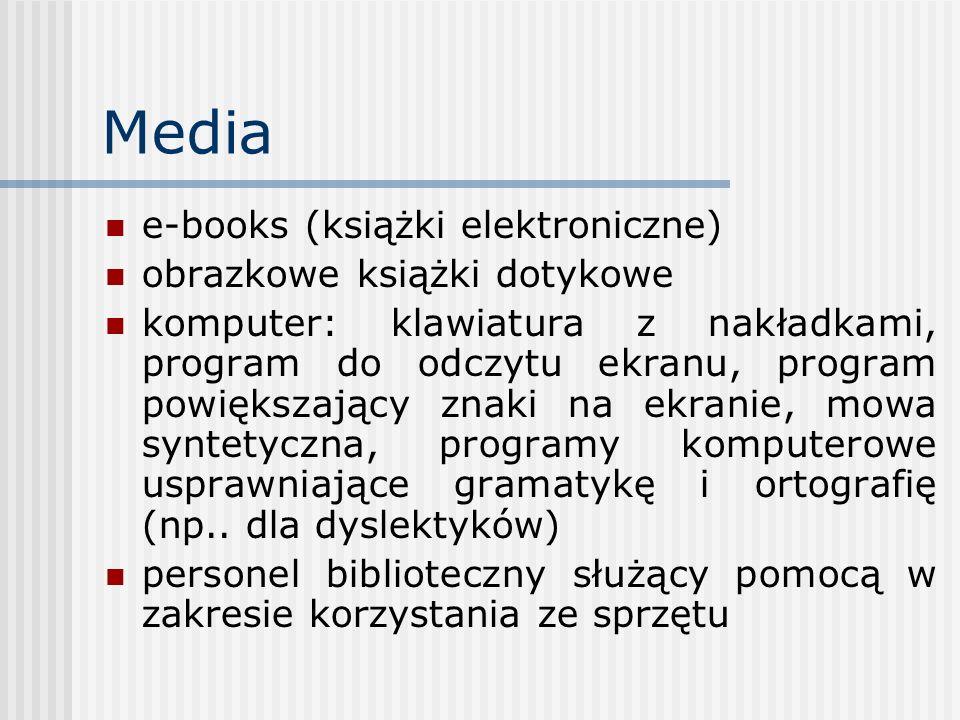 Media e-books (książki elektroniczne) obrazkowe książki dotykowe