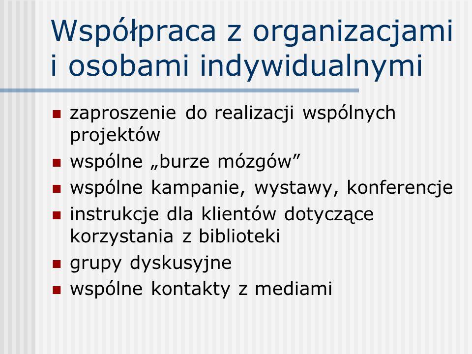 Współpraca z organizacjami i osobami indywidualnymi