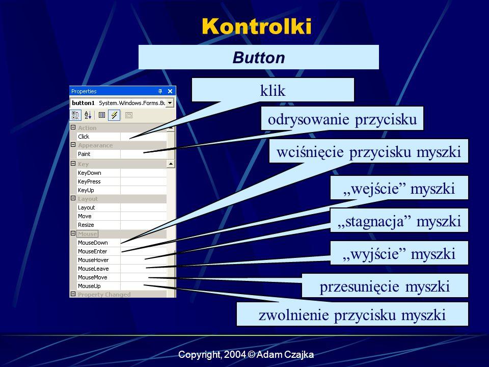Kontrolki Button klik odrysowanie przycisku odrysowanie przycisku