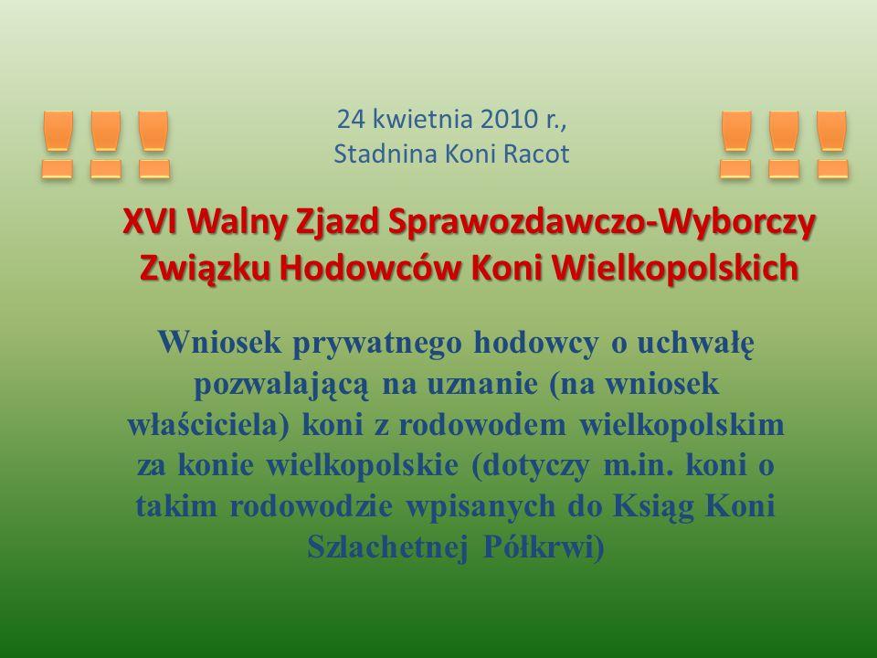 !!! !!! XVI Walny Zjazd Sprawozdawczo-Wyborczy