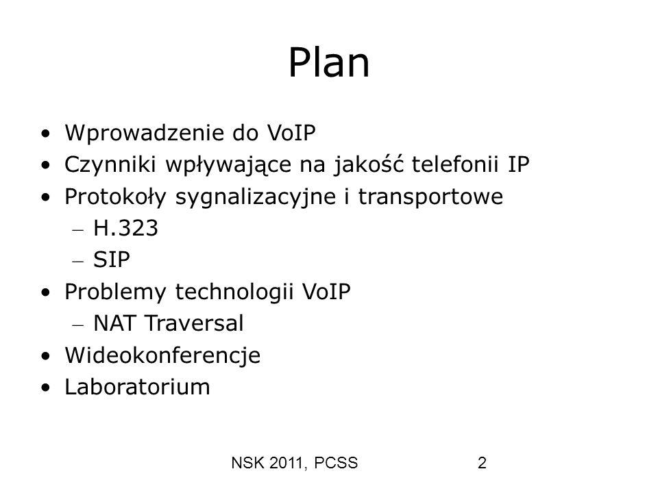Plan Wprowadzenie do VoIP Czynniki wpływające na jakość telefonii IP