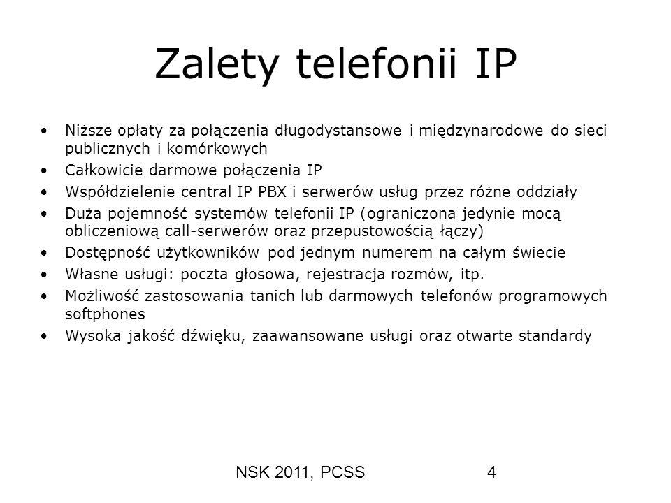 Zalety telefonii IP NSK 2011, PCSS