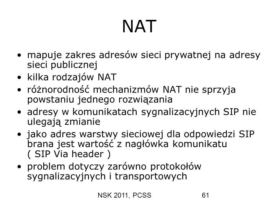 NAT mapuje zakres adresów sieci prywatnej na adresy sieci publicznej