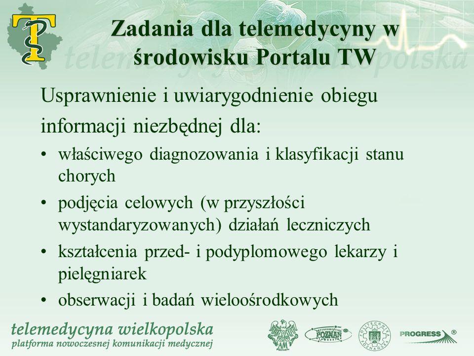 Zadania dla telemedycyny w środowisku Portalu TW