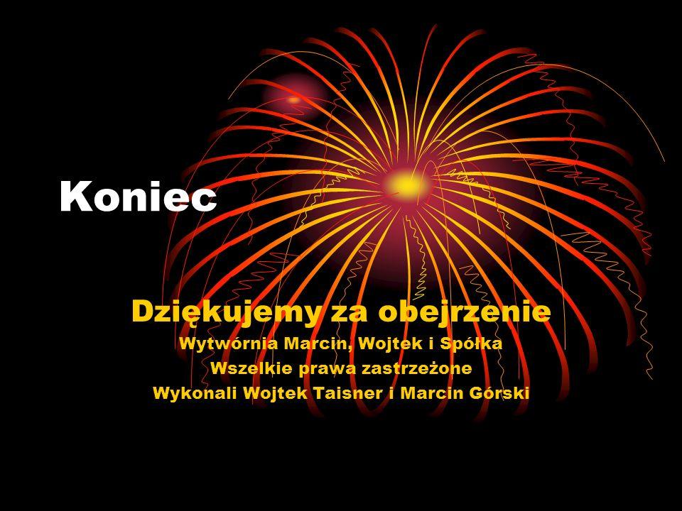 Koniec Dziękujemy za obejrzenie Wytwórnia Marcin, Wojtek i Spółka
