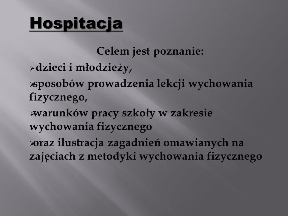 Hospitacja dzieci i młodzieży,