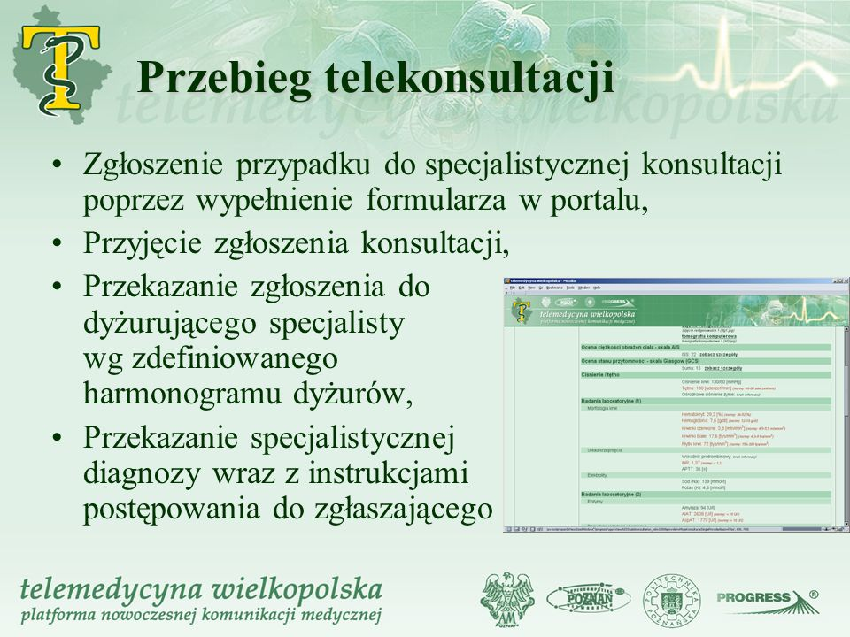 Przebieg telekonsultacji