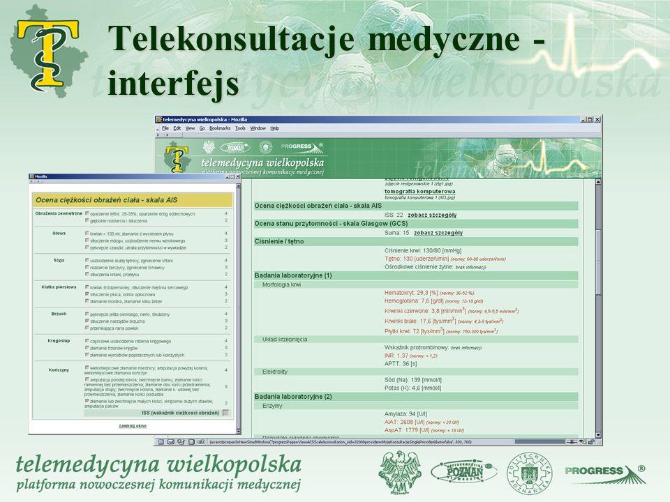 Telekonsultacje medyczne - interfejs