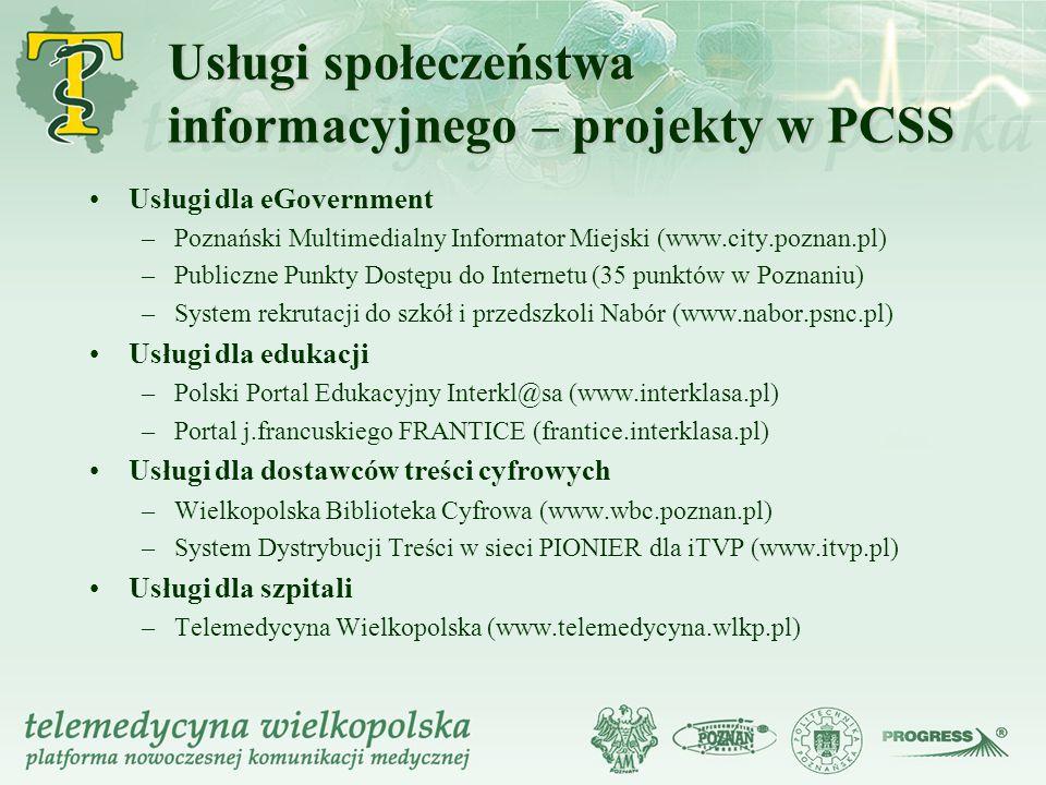 Usługi społeczeństwa informacyjnego – projekty w PCSS
